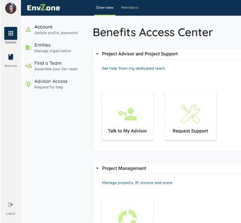 user interface of outsourcing advisor platform