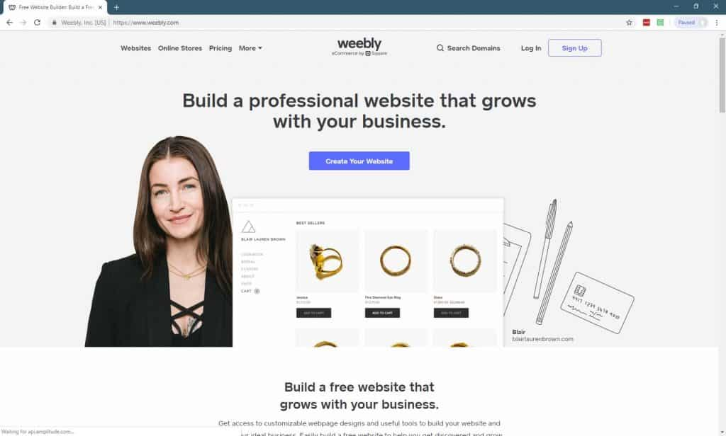 11 Best Website Builders For Small Businesses-Weebly