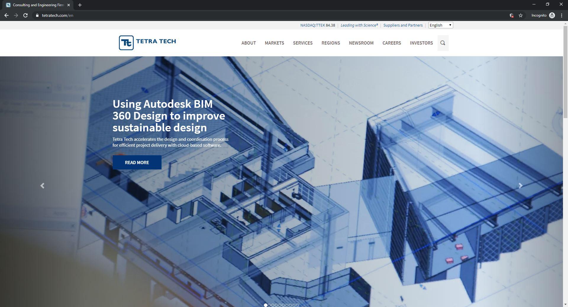 Best 6 ENR Website Designs Established As Thought Leaders-Tetra Tech