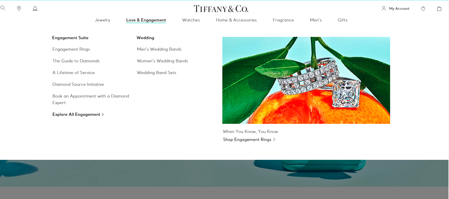 Homepage Design 101-Tiffany And Co