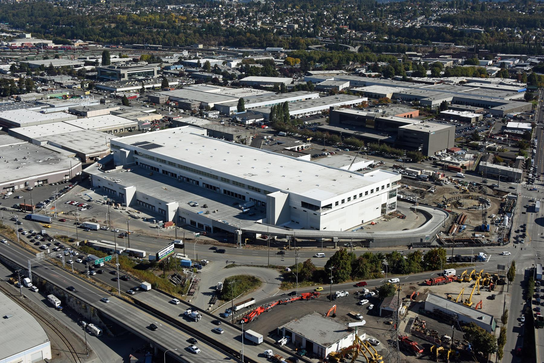 Prologis 3 story warehouse in Seattle