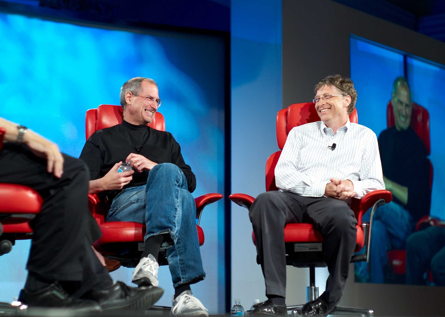 Steve Jobs and Bill Gates in an interview