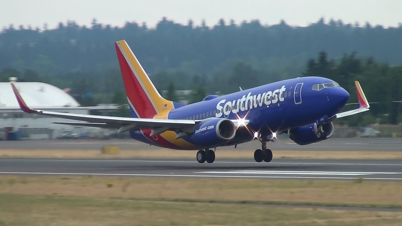 a Southwest aircraft landed at an airport
