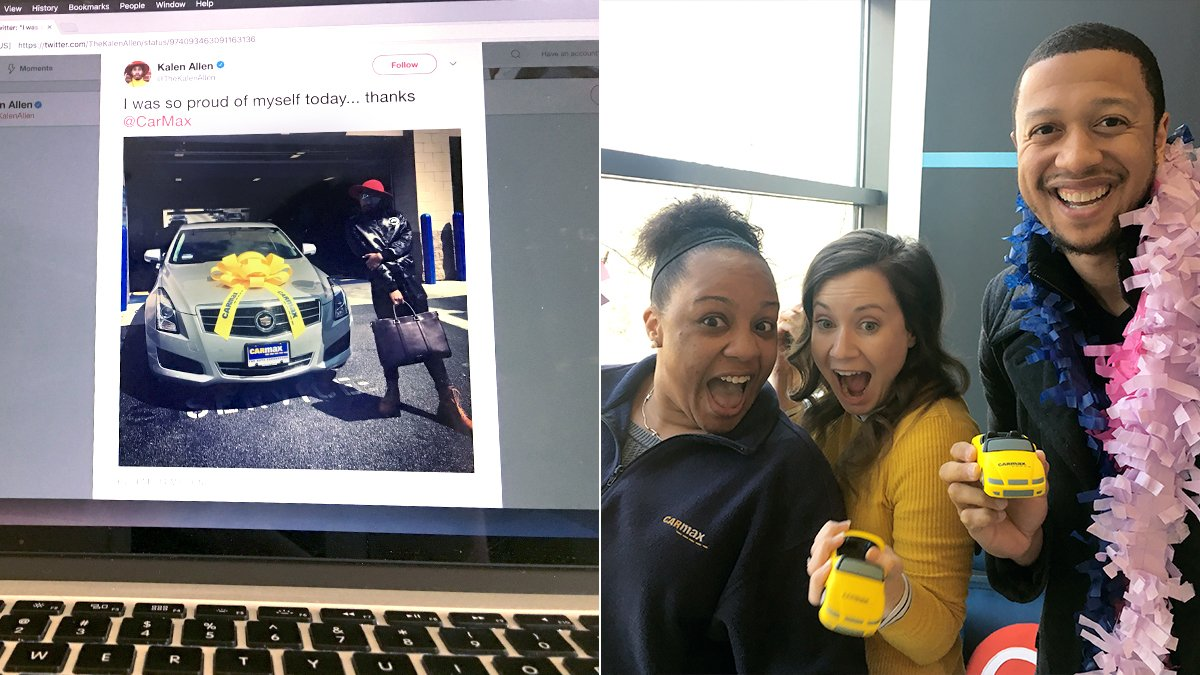 Customers celebrate new car purchase on Twitter