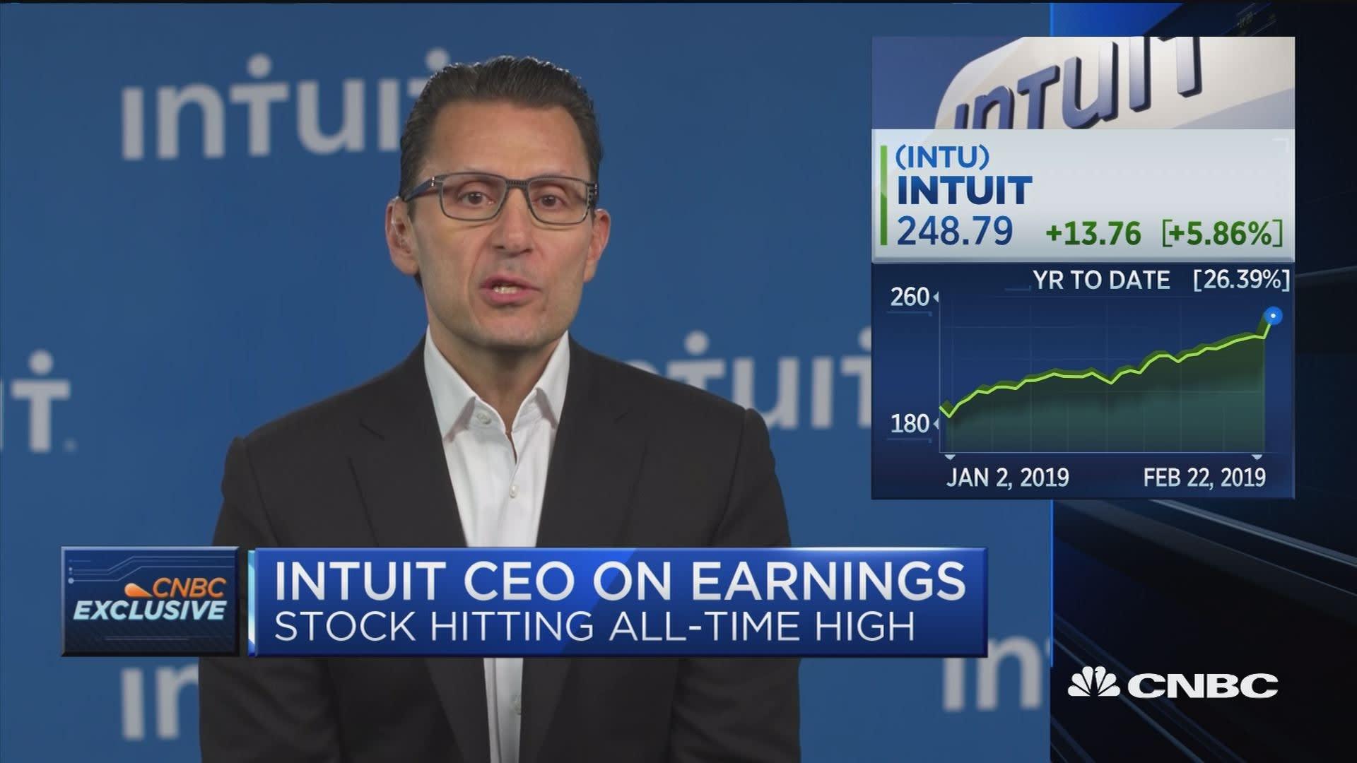 CNBC spokesman on Intuit stock