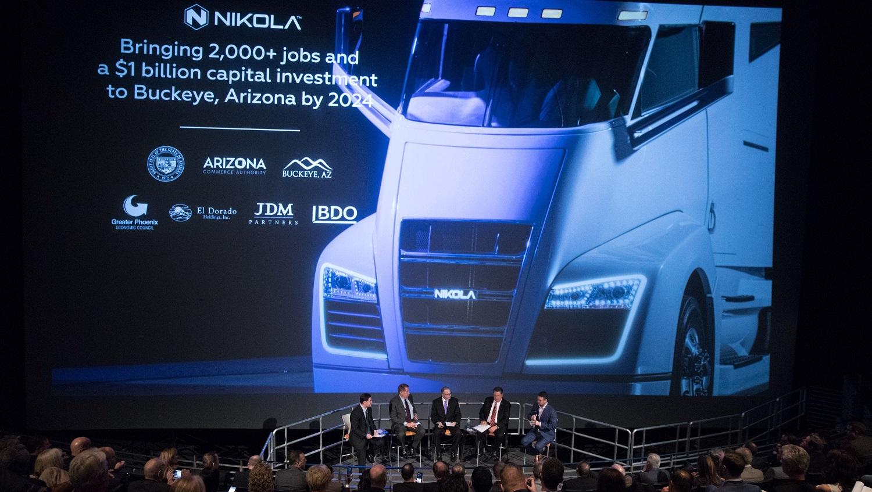 Nikola press conference about jobs in Arizona