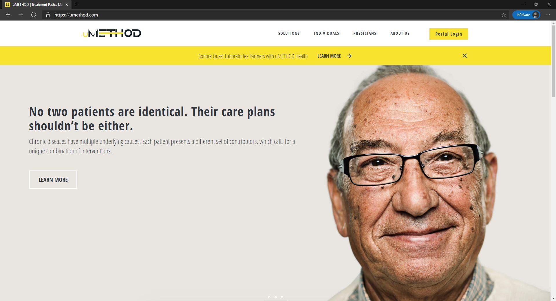 uMethod website homepage