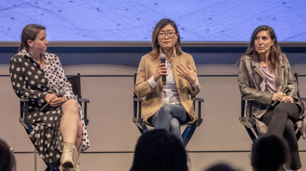 young ladies gave talk at MESA event