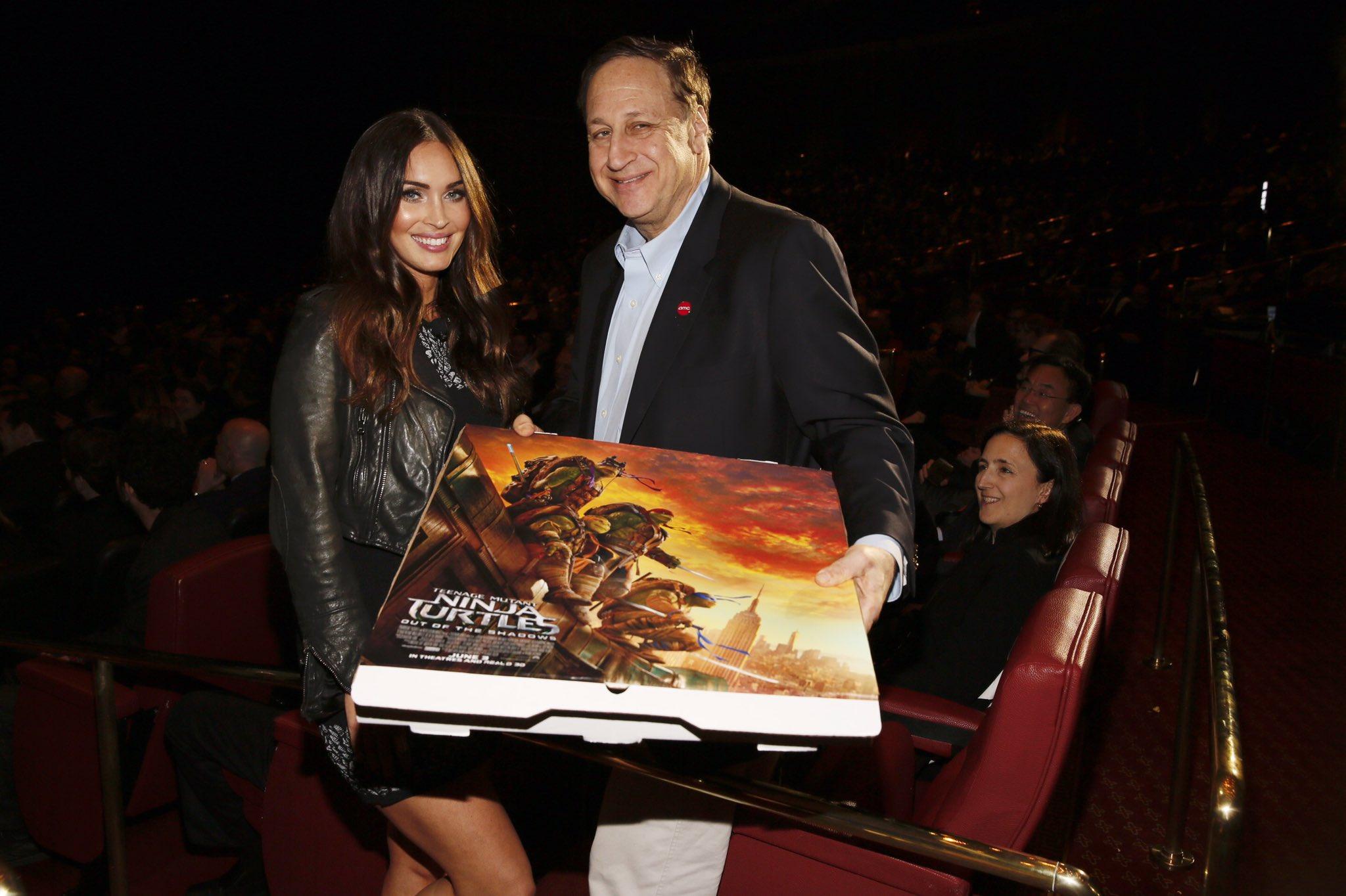 AMC CEO with Megan Fox artist