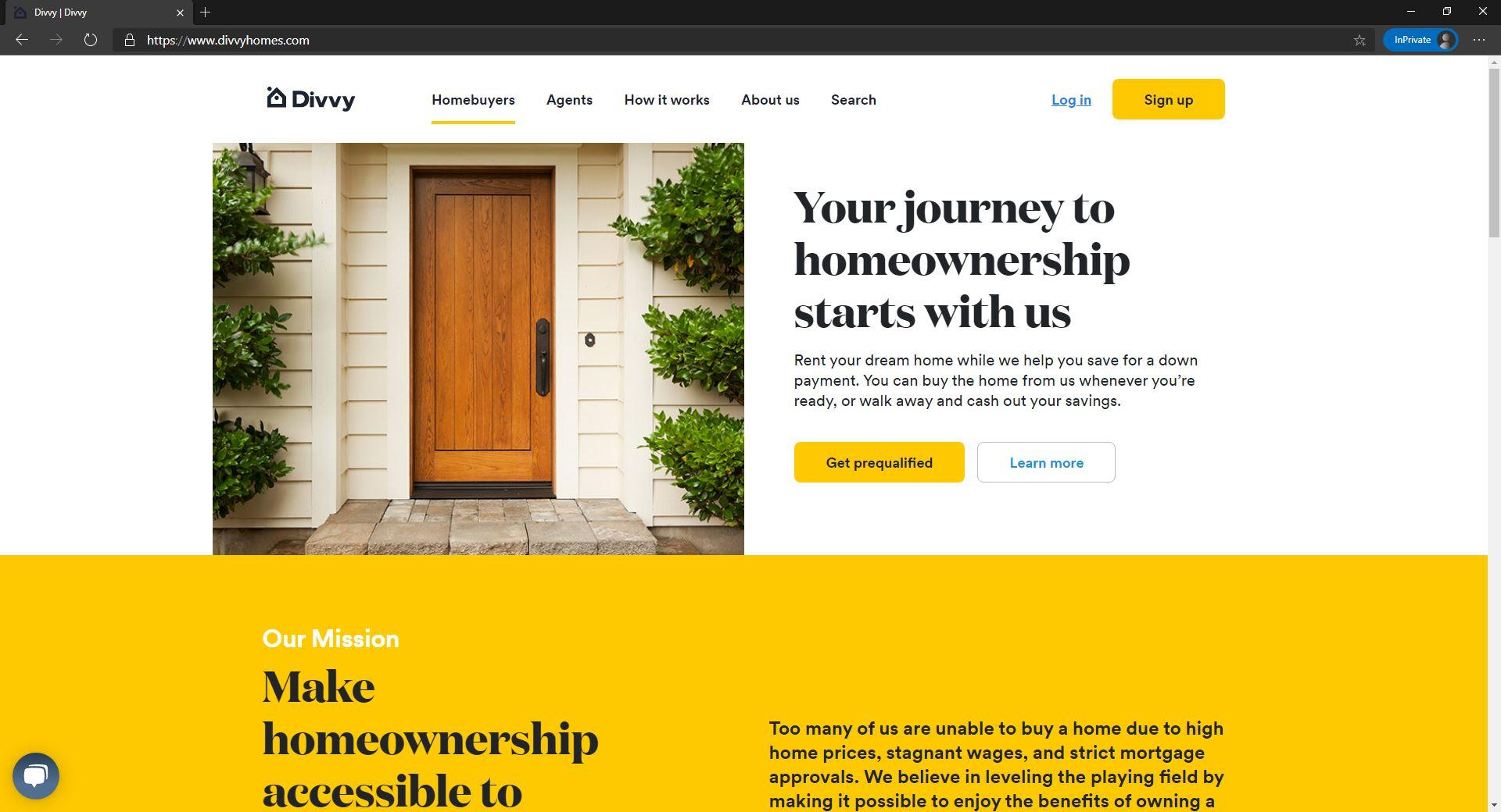 Divvy Homes website