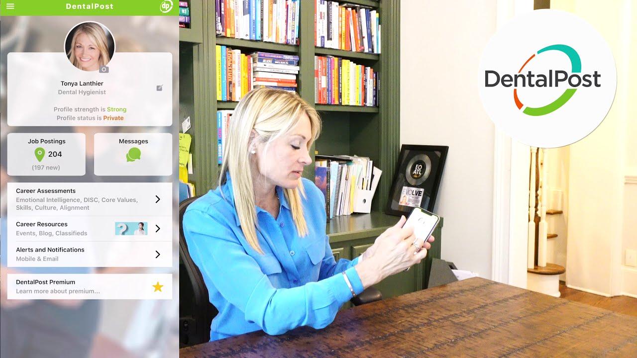 DentalPost mobile app user interface