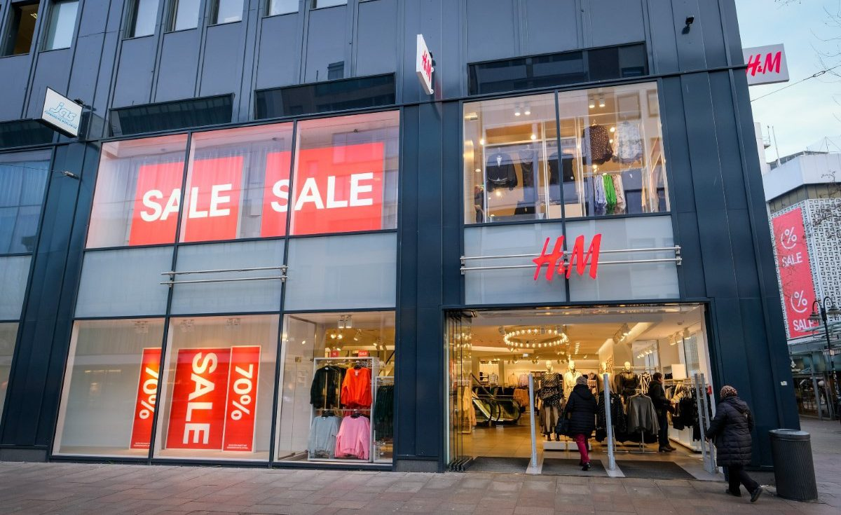 a frontage of HM store