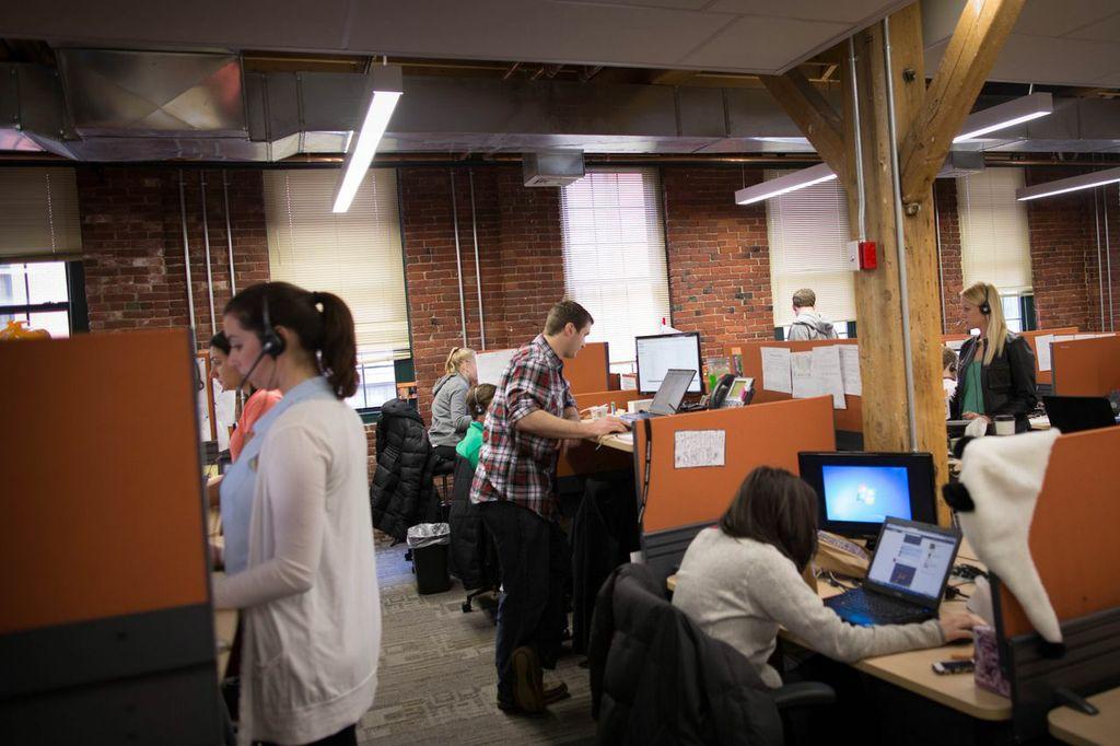 Staff work in Hubspot headquarters