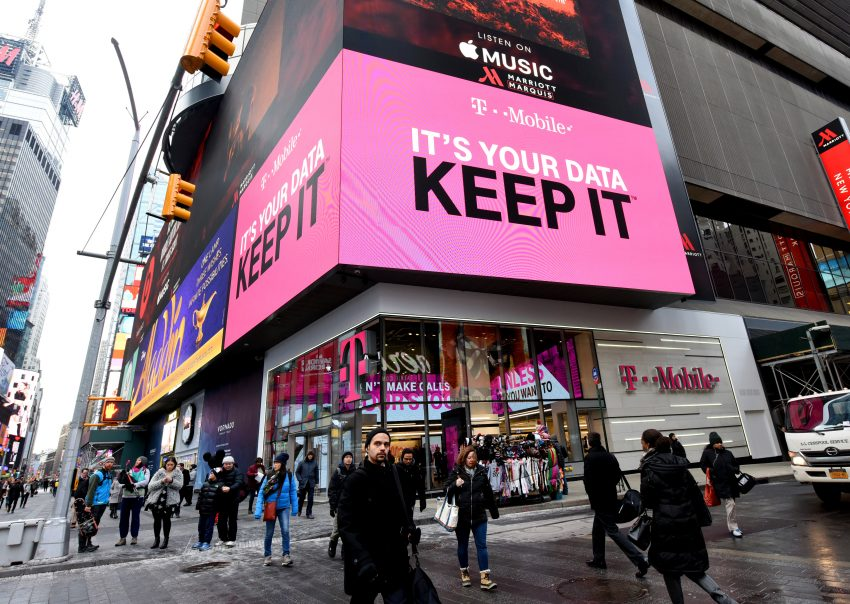 T-Mobile retailer store in New York