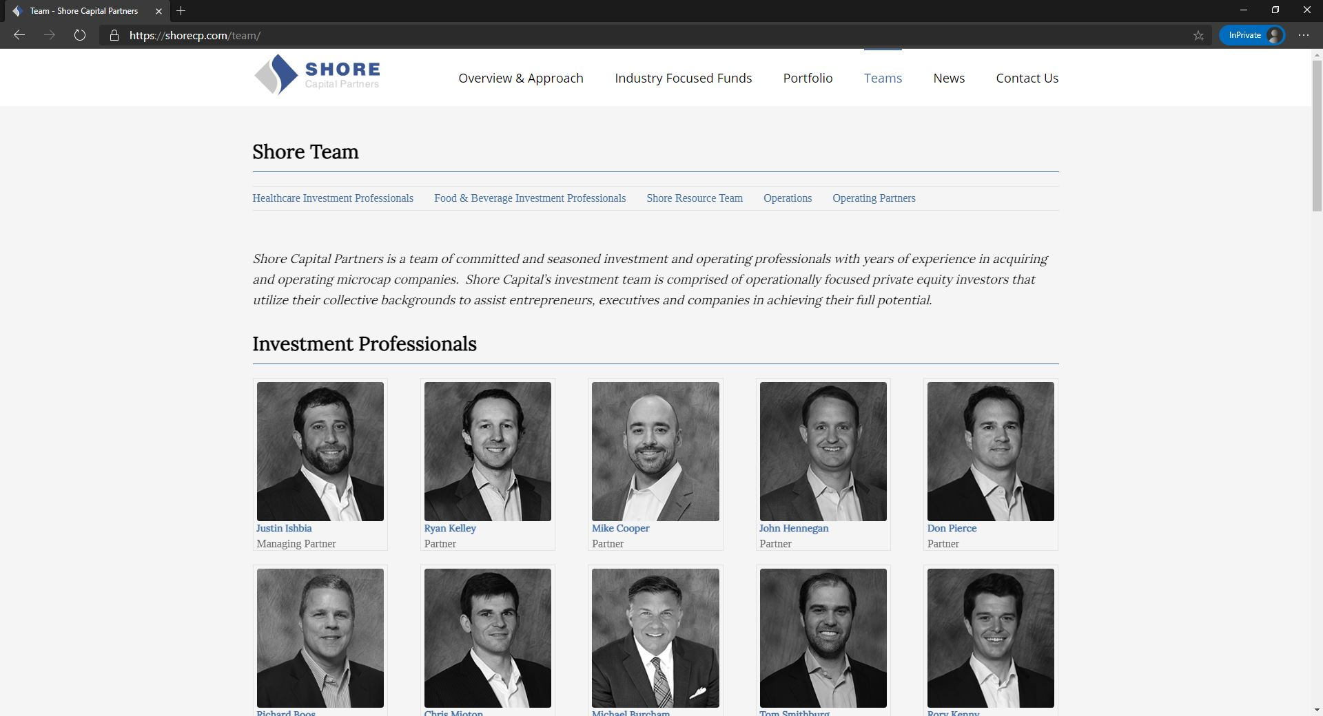 Shore Capital Partners website