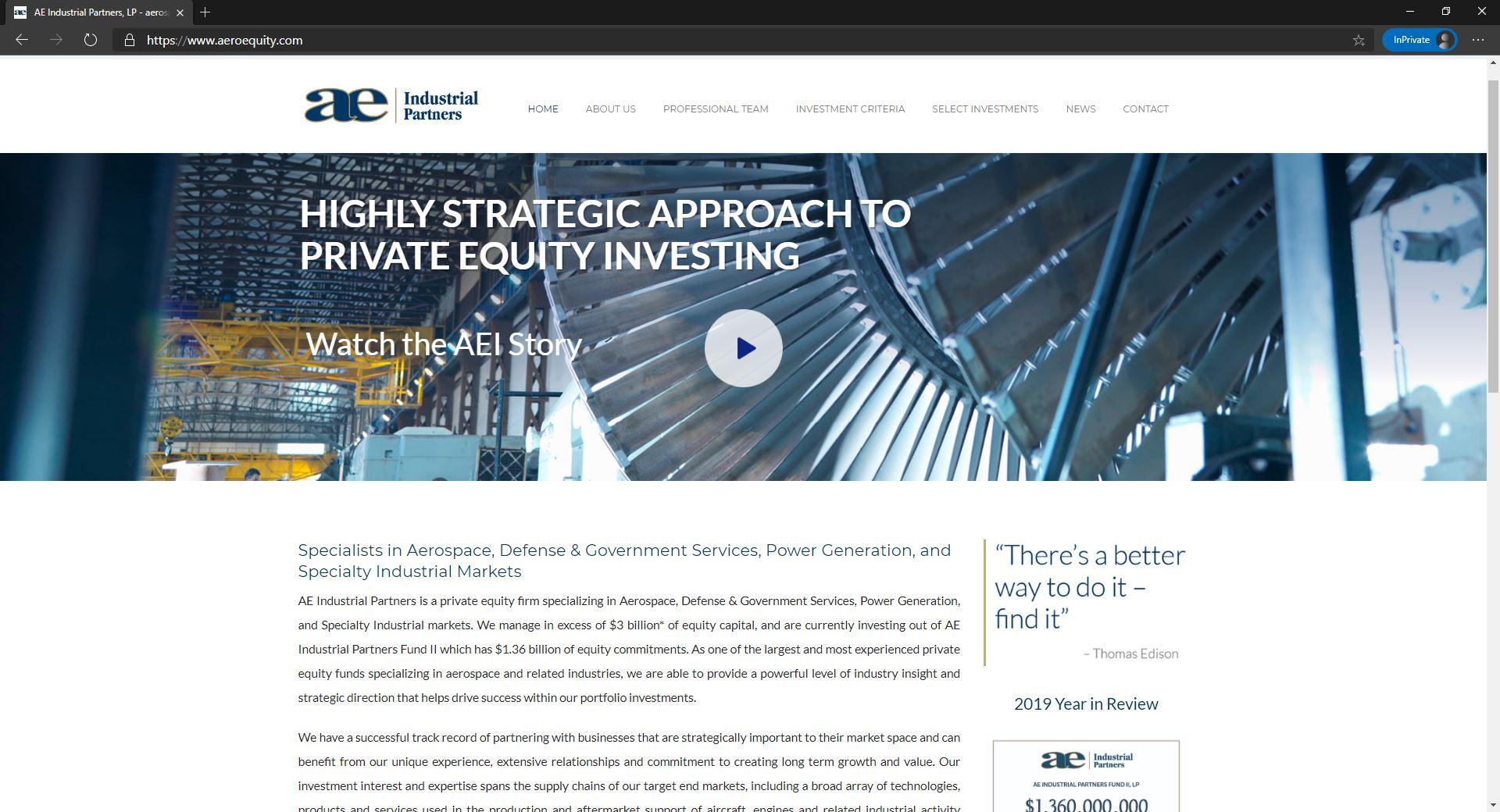 AE Industrial Partners website