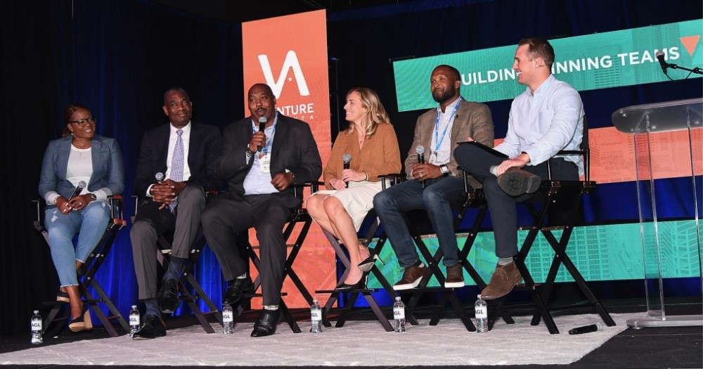 Venture panelists answer to audience