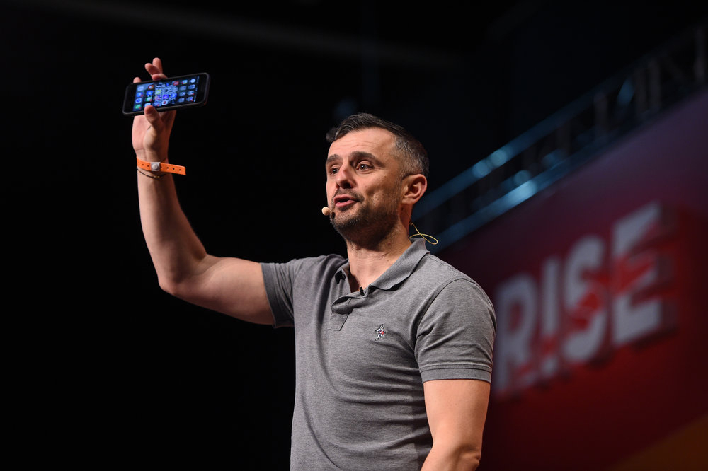 Gary Vaynerchuk in a talk at a RISE conference