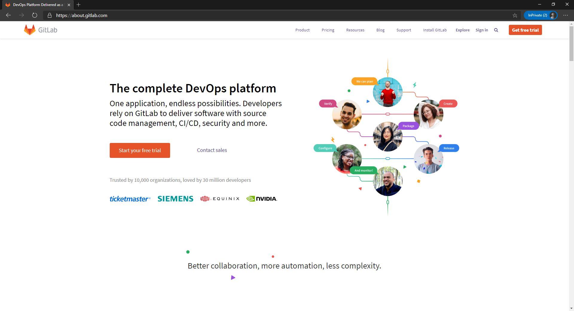 Gitlab Website