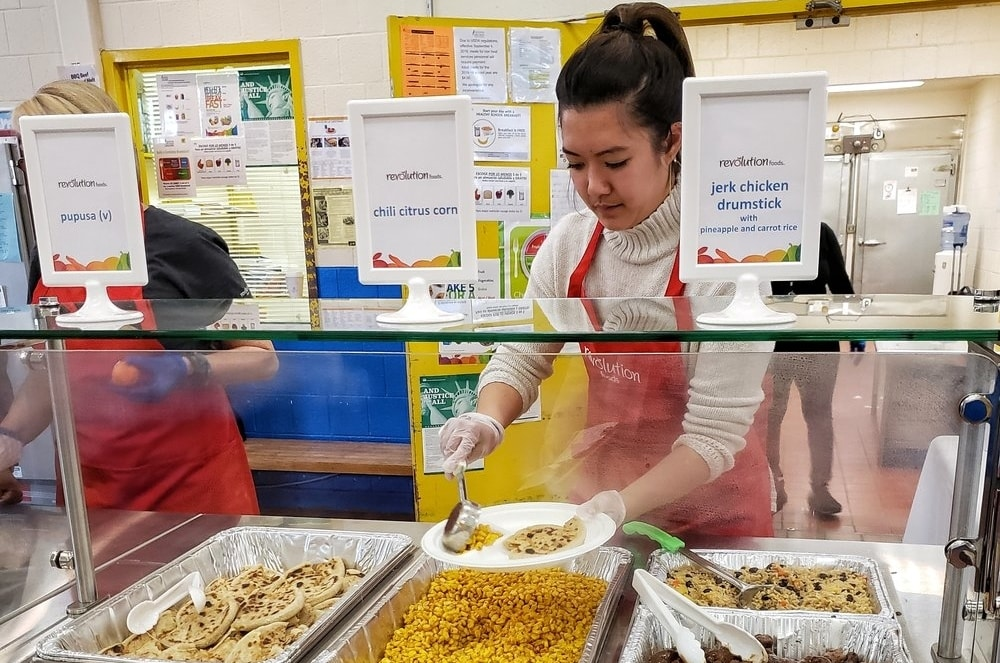 Revolution foods staff collaborate with school staff on food coordination