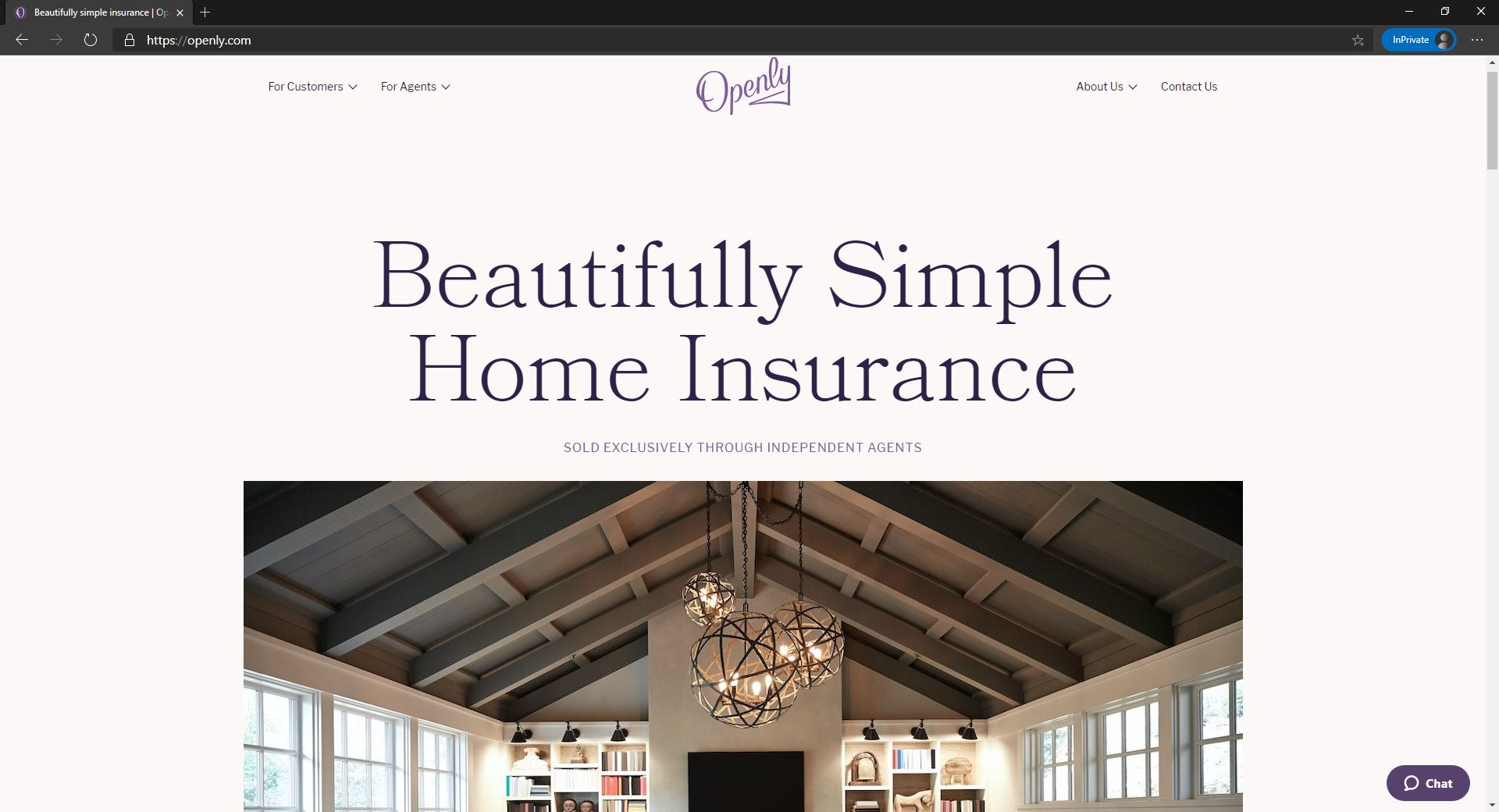 Openly website homepage