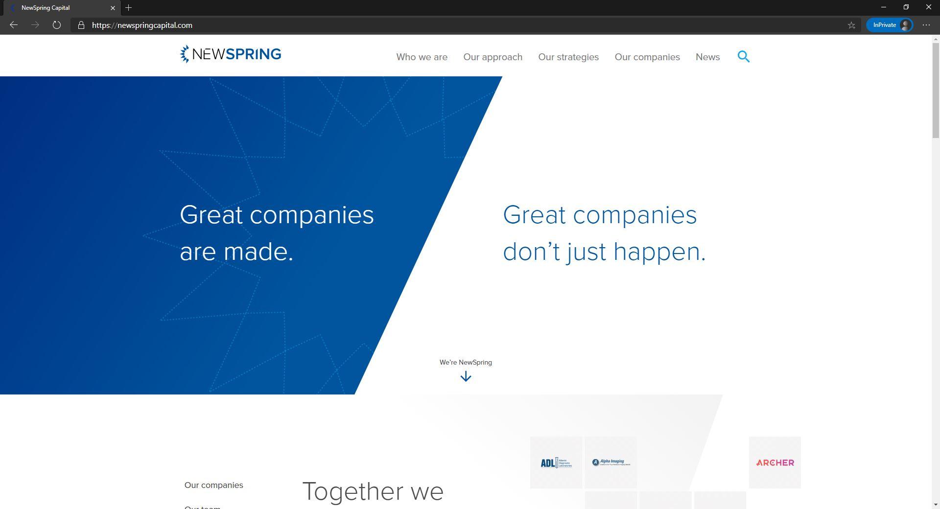 NewSpring website homepage