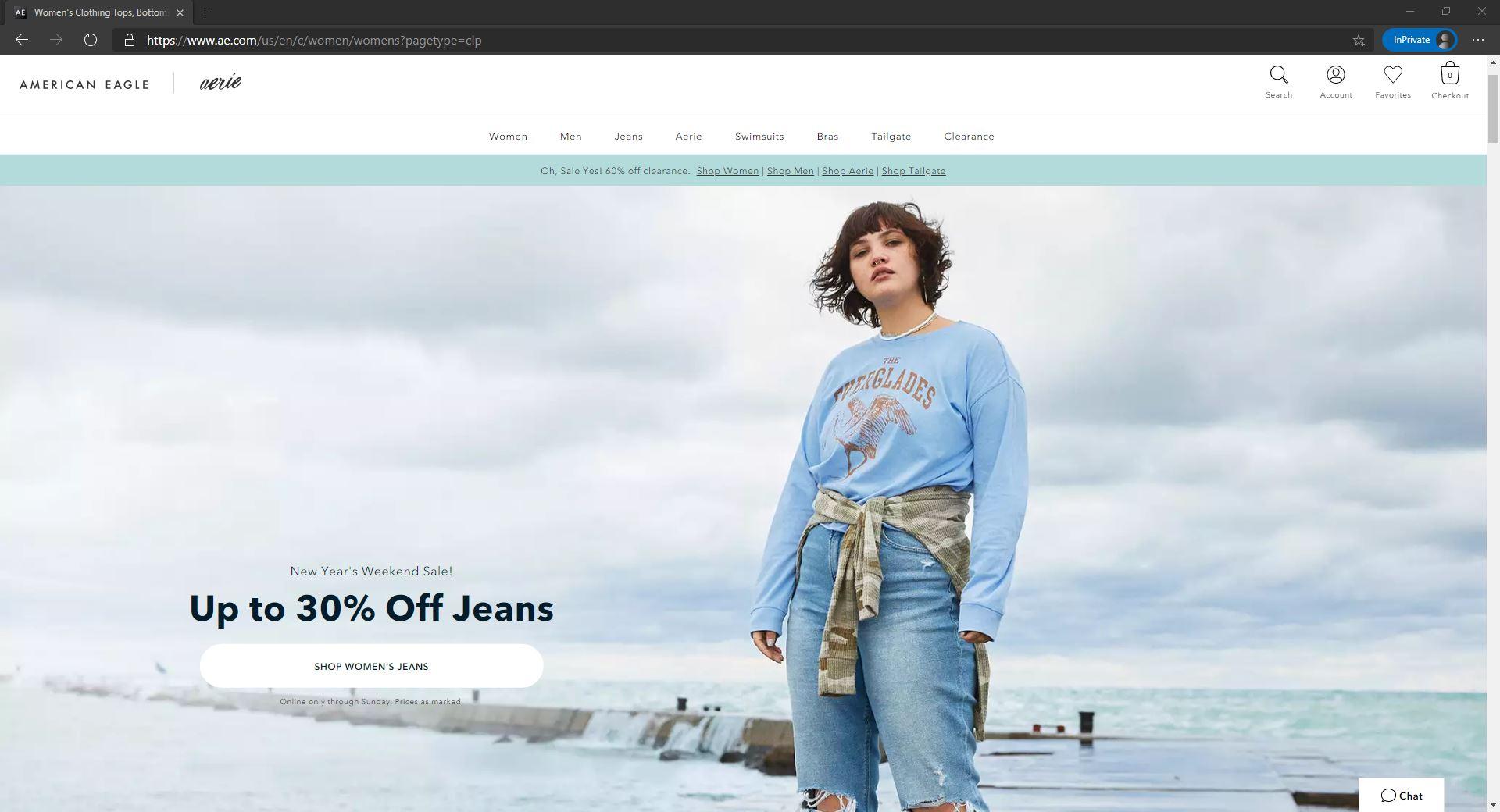 American Eagle website