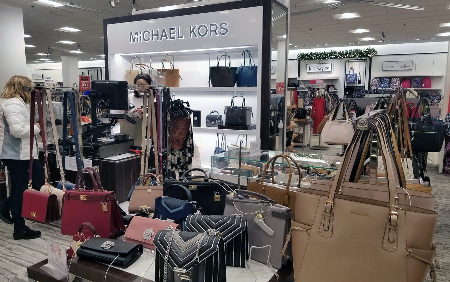 Michael Kors section in a retailer