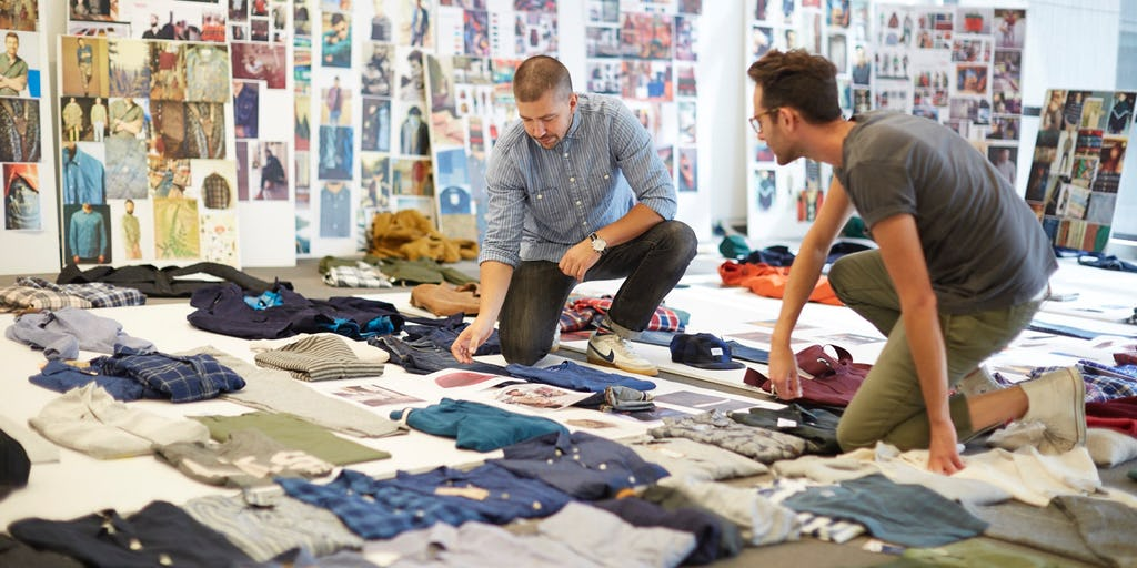 Old Navy design team collaborate on product sample