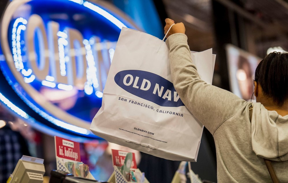 customers checkout at Old Navy store