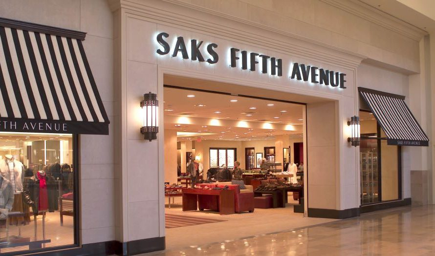 Saks Fifth Avenue storefront in a mall