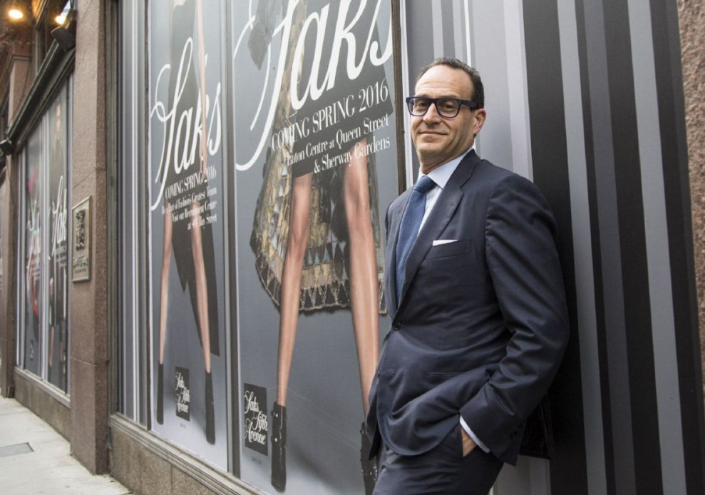 Saks Fifth Avenue CEO in New York store