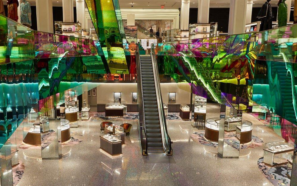 inside Saks Fifth Avenue store