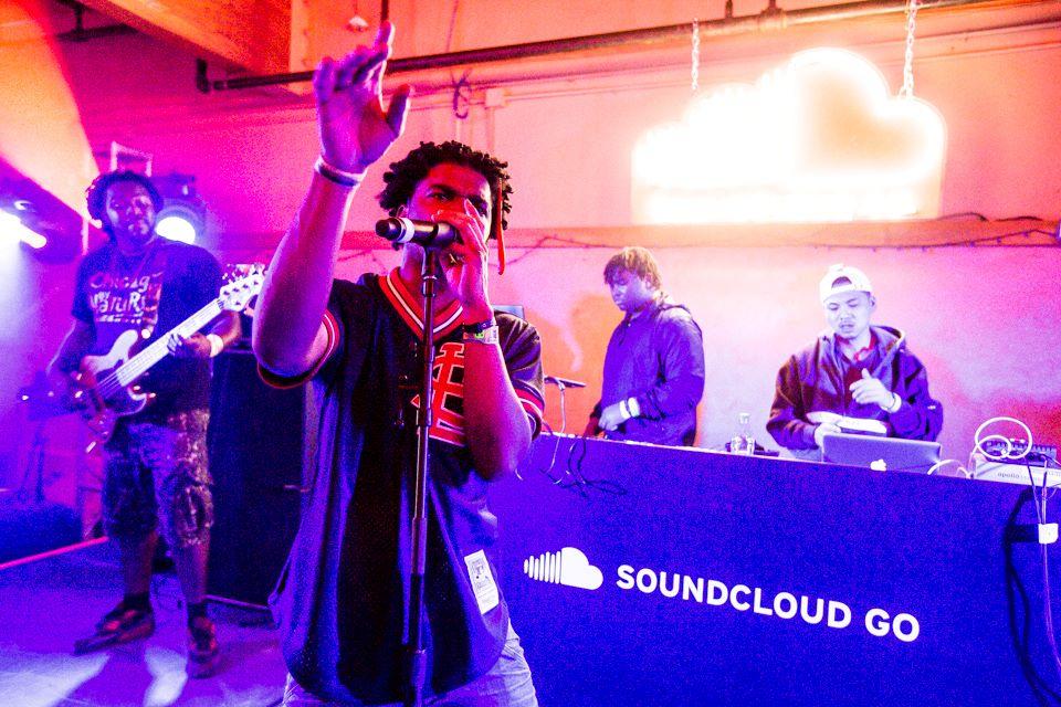 SoundCloud music band perform at SoundCloud Go program