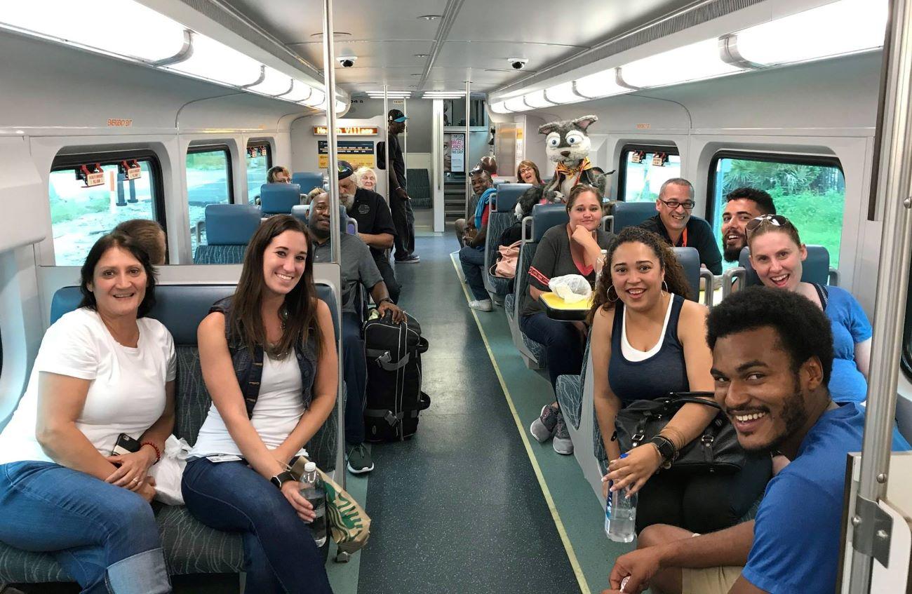 Sunrail train in Orlando