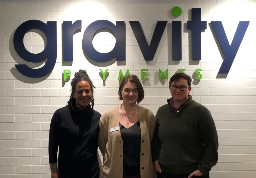 Gravity Payments staff in a meetup event