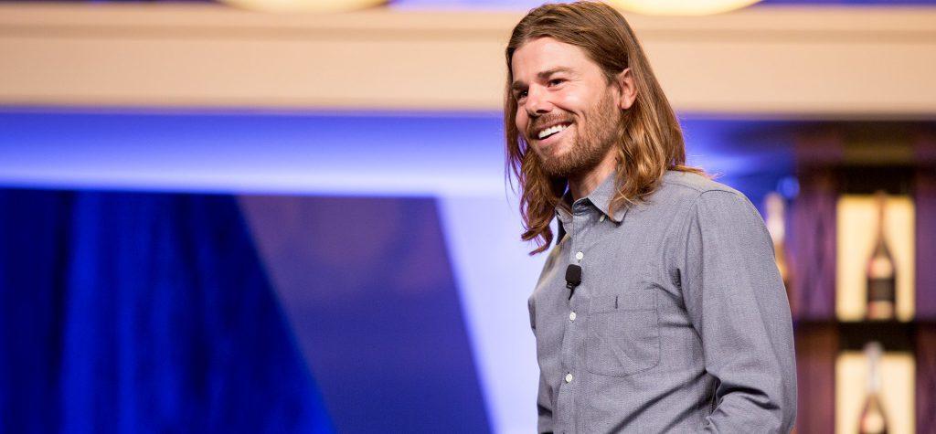 Dan Price in a late night talk show