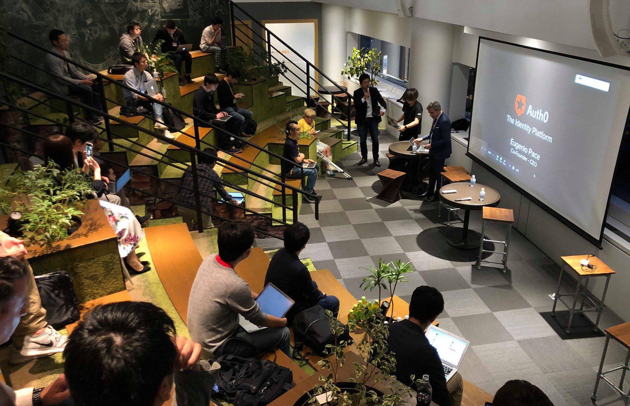 Eugenio Pace present in a tech talk