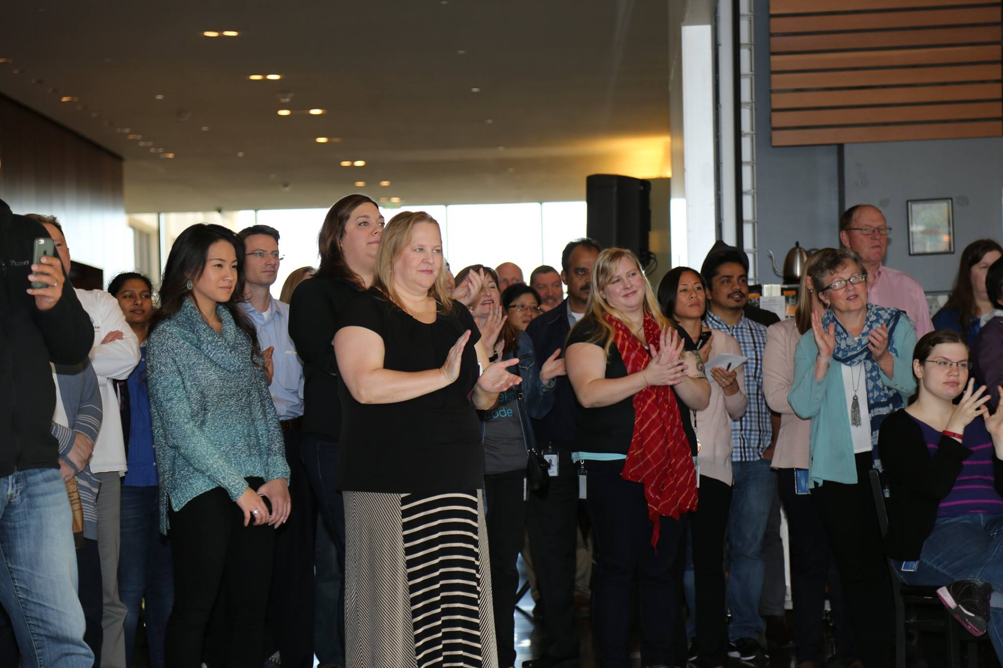 Expedia head office team celebrate with international office