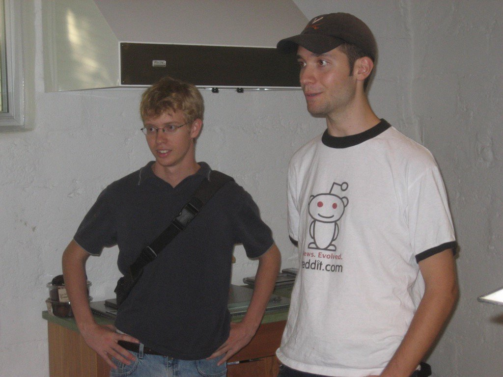 Reddit co-founders in early days