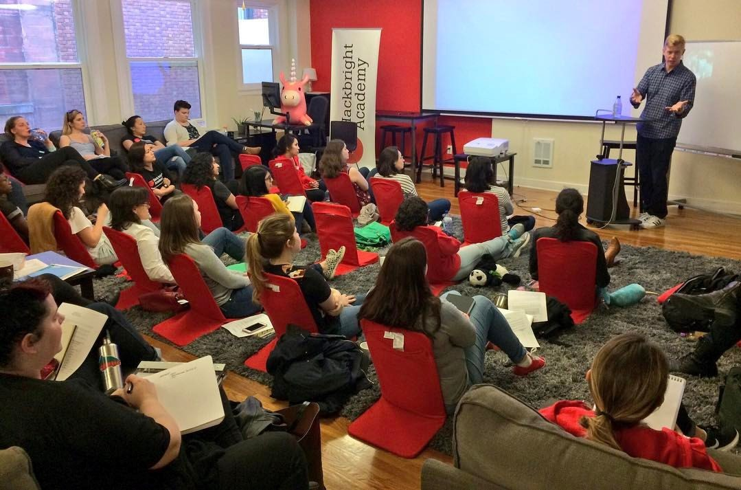 Reddit co-founder shares a story at Hackbright academy
