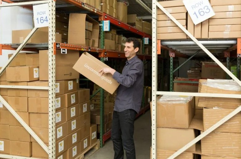 Dave Bolotsky in a warehouse at the head office