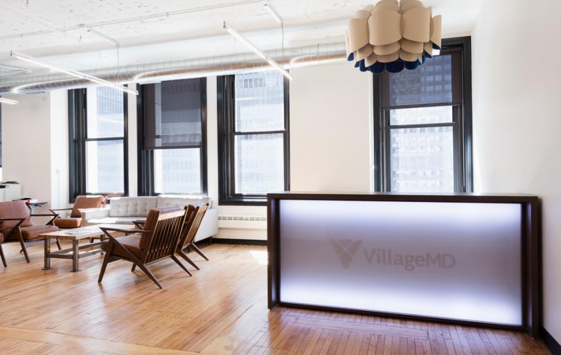 VillageMD frontdesk at the head office