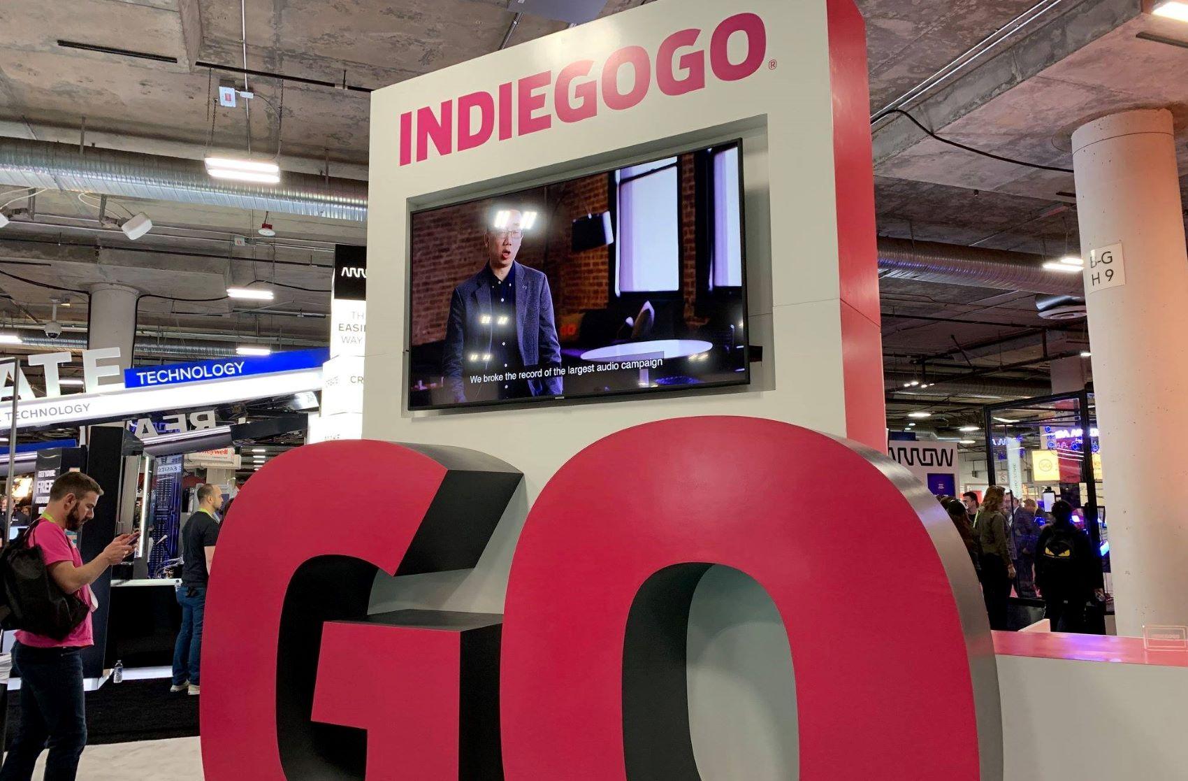 Indiegogo booth at a tradeshow