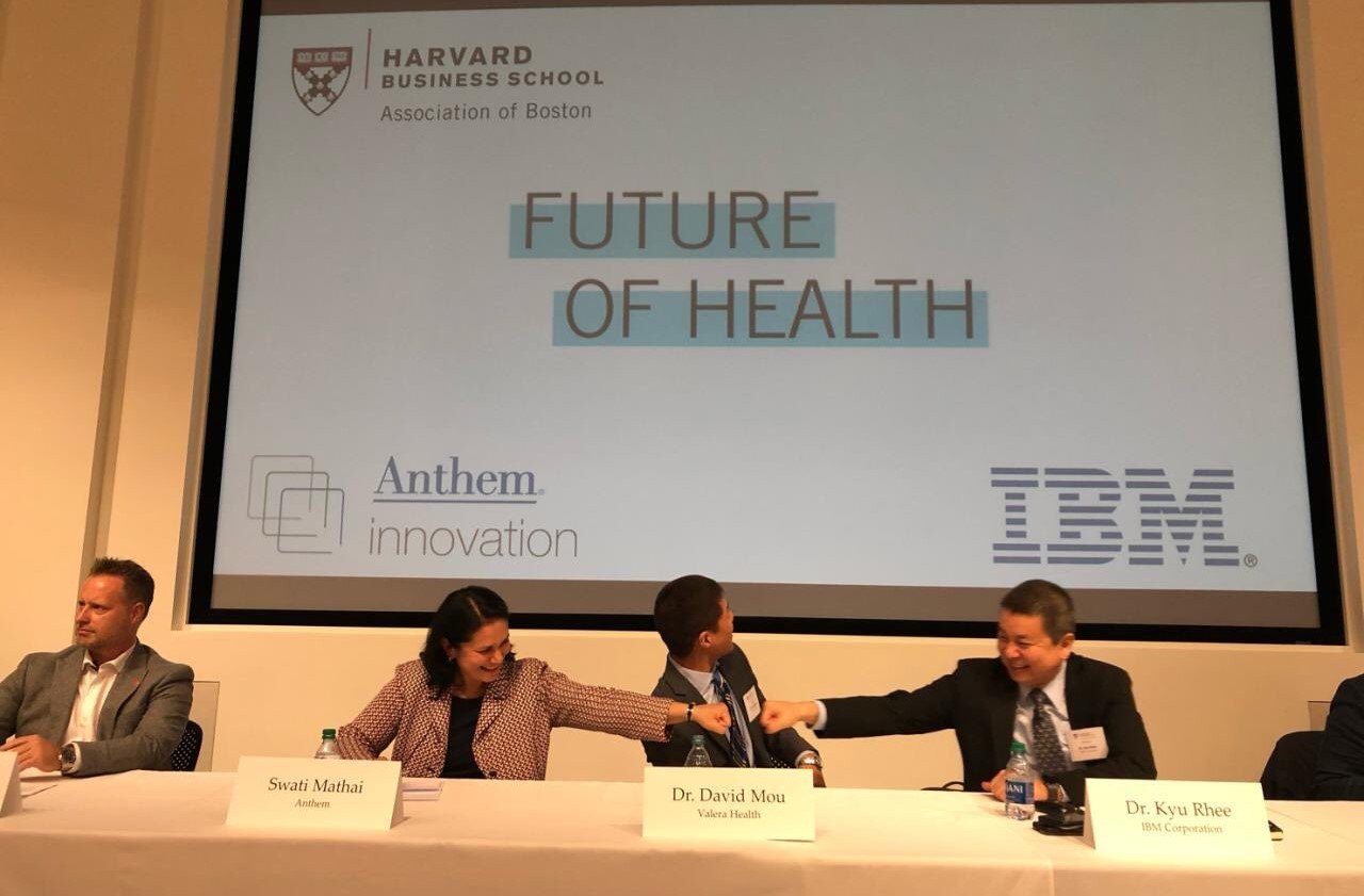 HBR committee at healthcare conference with IBM