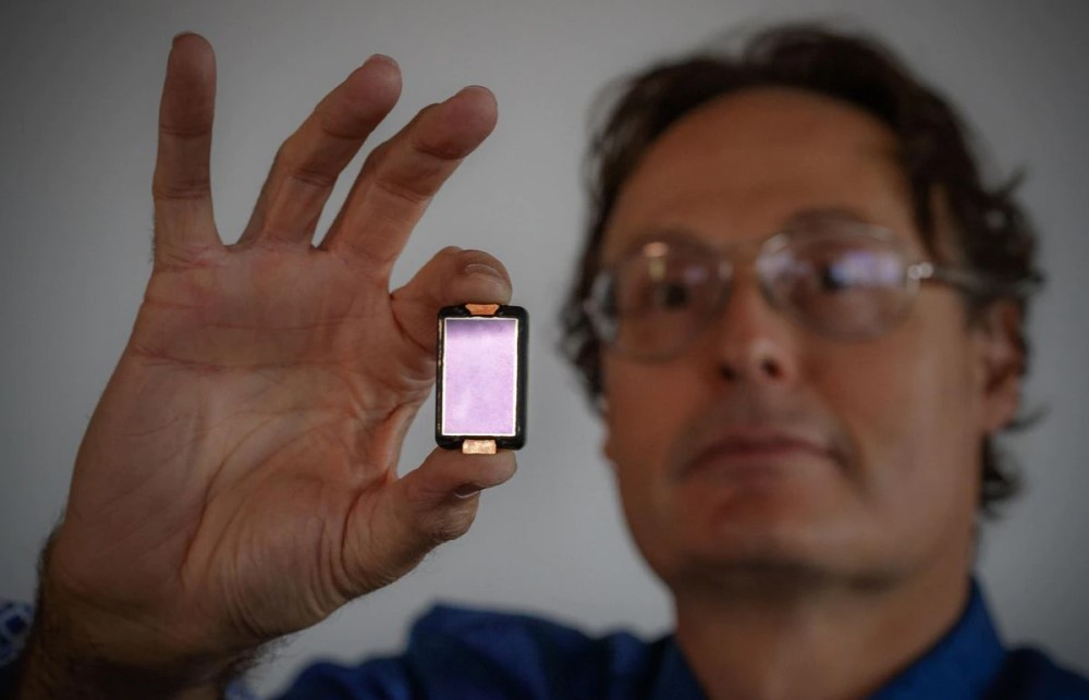 Butterfly CEO use a micro chip in the device