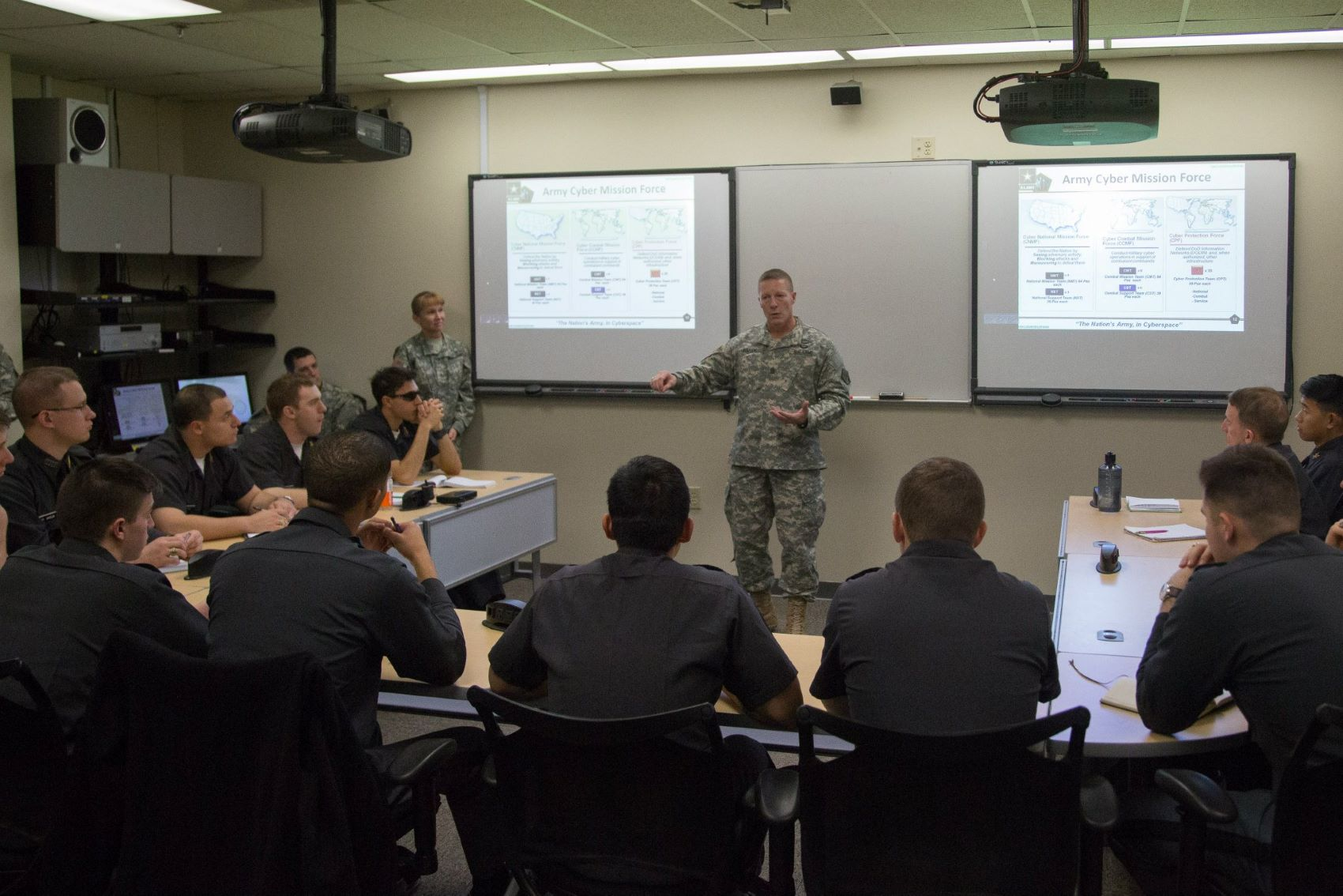 WestPoint students attend a cyber security lecture