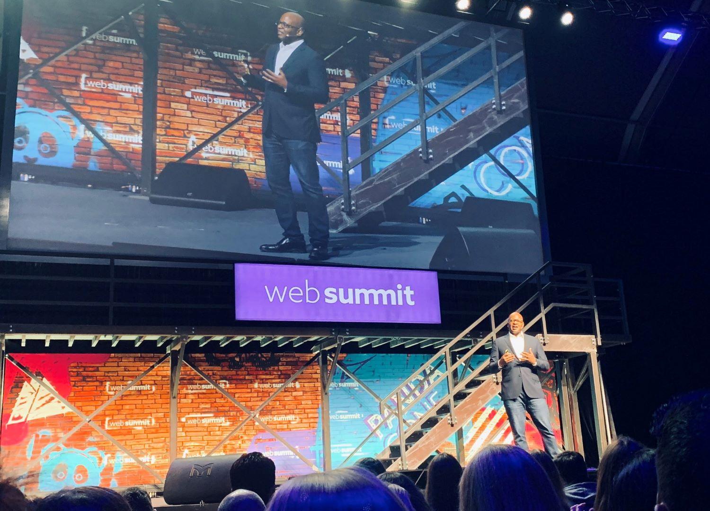 Blackrock tech leader talk in an event at Web summit