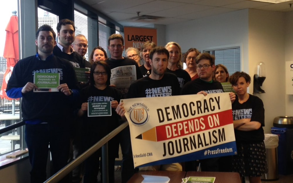 Local news companies protest freedom