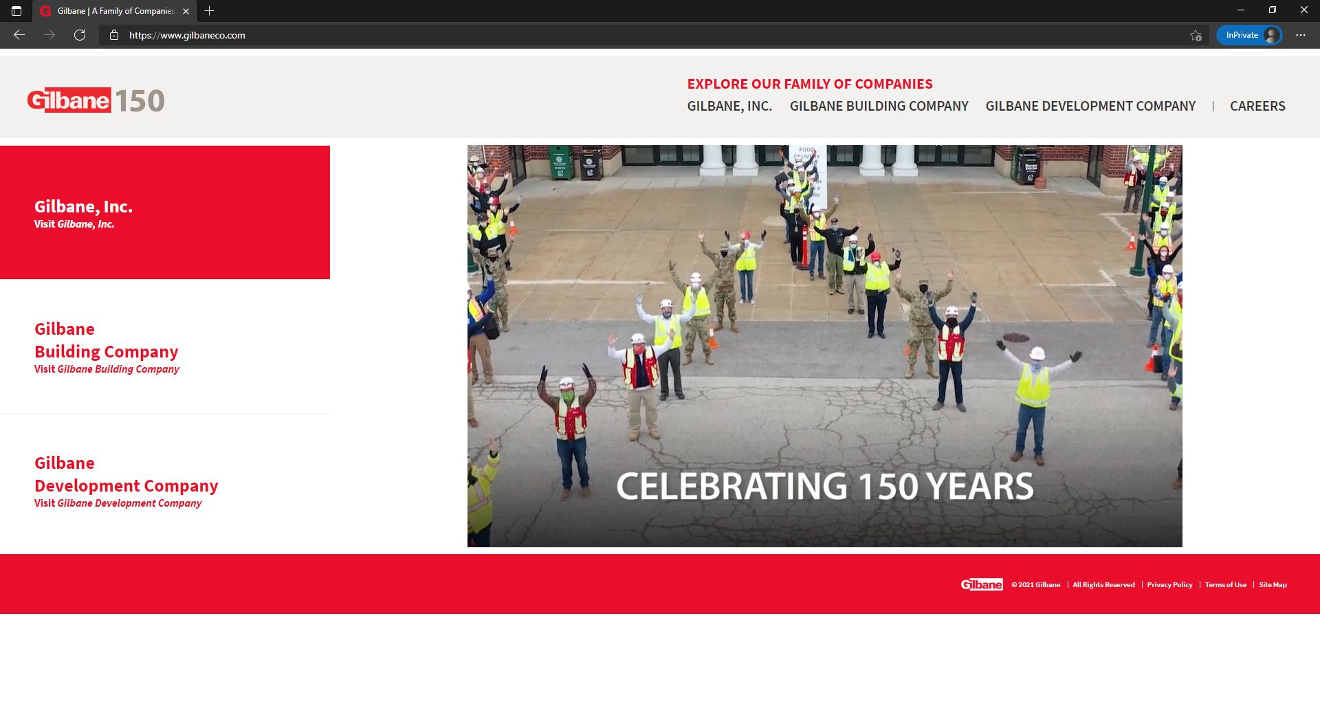 Gilbane website homepage